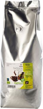 KAWA ZIARNISTA ARABICA 100% FAIR TRADE BIO 1 kg - OXFAM