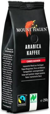 KAWA ZIARNISTA ARABICA 100% FAIR TRADE BIO 250 g - MOUNT HAGEN