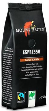 KAWA ZIARNISTA ESPRESSO FAIR TRADE BIO 250 g - MOUNT HAGEN
