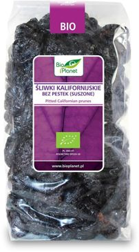 ŚLIWKI KALIFORNIJSKIE BEZ PESTEK BIO 1 kg - BIO PLANET